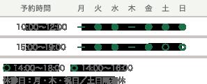 予約時間 10:00~12:00 15:00~19:00 休診日:月・木・祝日/土日隔週休