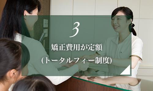 3.矯正費用が定額(トータルフィー制度)